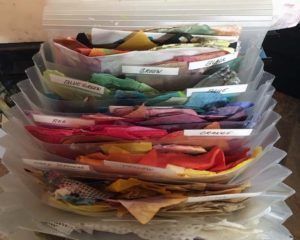 Photo of filed collage paper