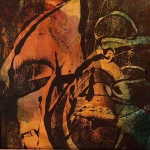 Monoprint by FL artist Carolyn Land