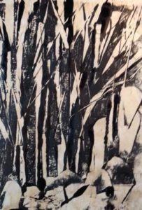 mono print by FL artist Carolyn Land