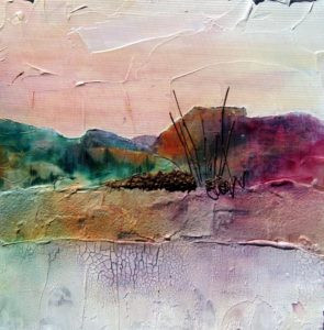 Alternative surface painting by FL artist Carolyn Land