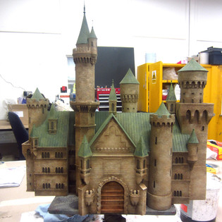 Castle miniature for an advert