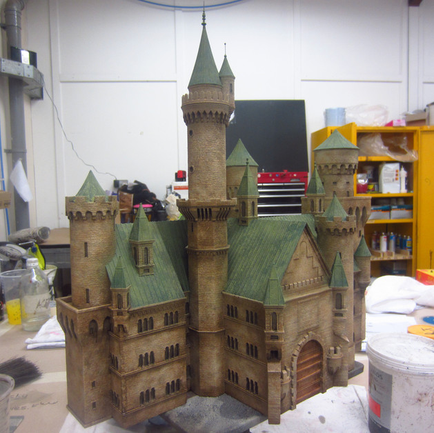 Castle miniature for an advert
