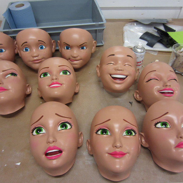 Masks painting for IKEA advert (3D printing)