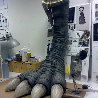 Frankenweenie: Turtle Monster leg (foam latex)