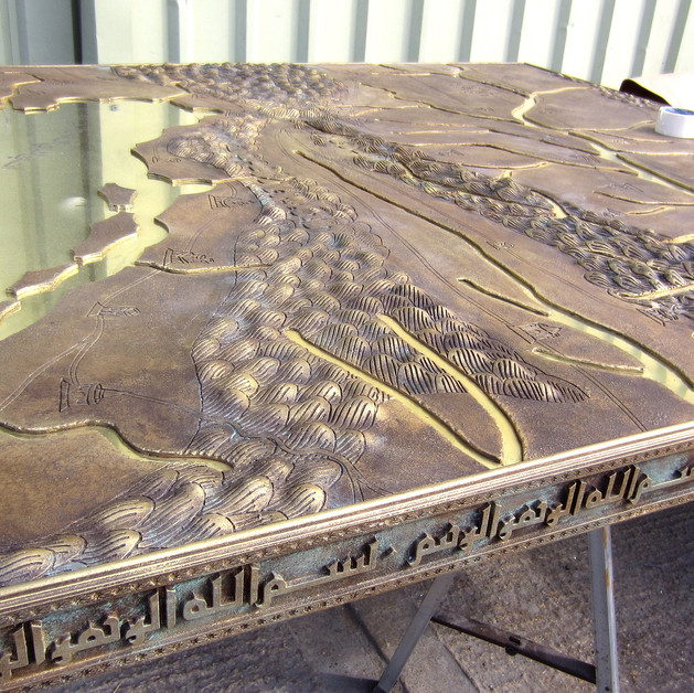 Dracula Untold: map model painted as bronce