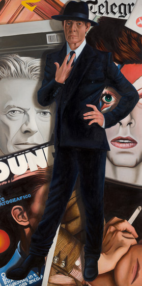 """""""Bowie"""" Oil on canvas 200x100cm Completed Dec. 2019."""