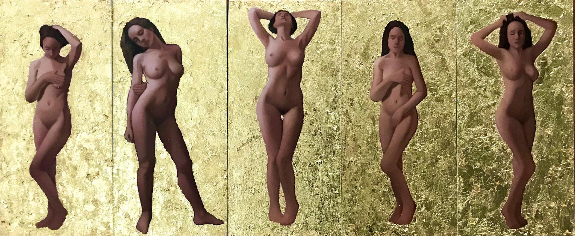 Studies: five postures
