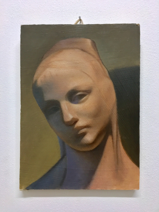 Oil on MDF 21x15cm 2018.  From the Kelvingrove Collection.