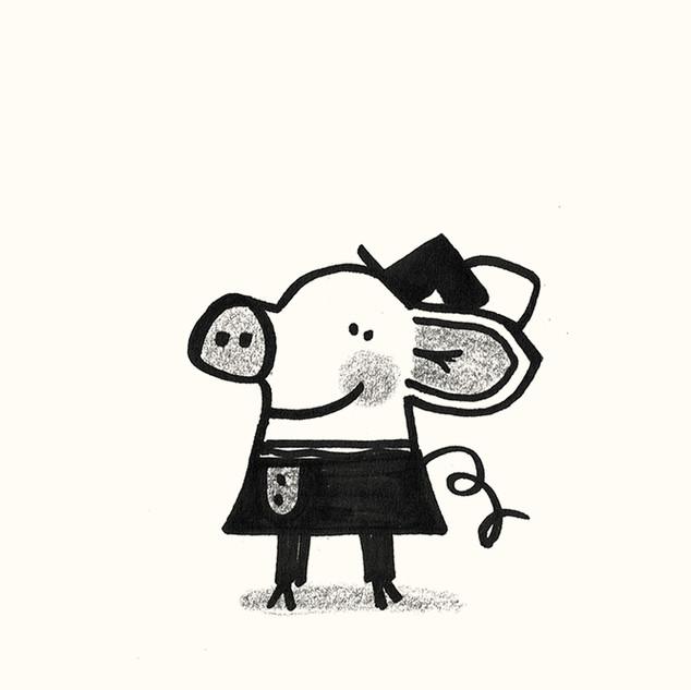 Elegant pig