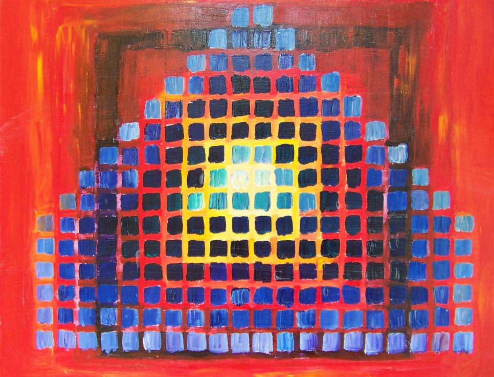 'Denken en Weten' (2007), acrylverf op h