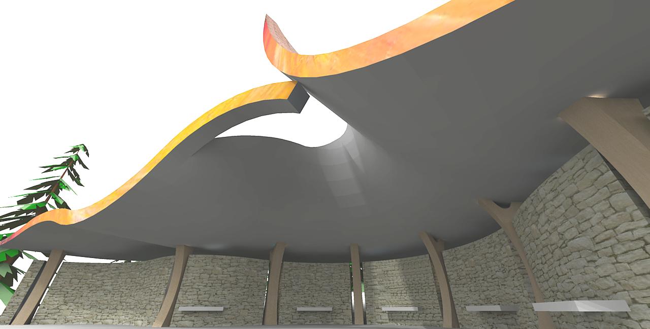 'Duality' (2009), ontwerp paviljoen t.b.