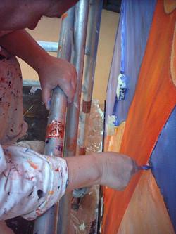 Wandschildering 'De Bras'