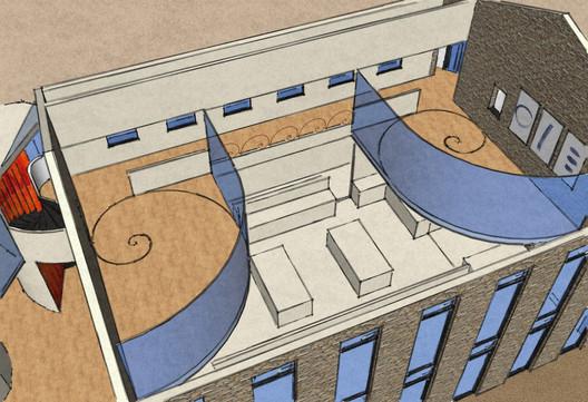 Restaurant 3D plan