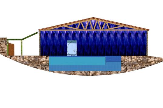 Cross section Swimmingpool Wellness