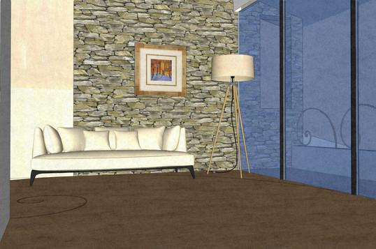 Hotel suite interior, living room
