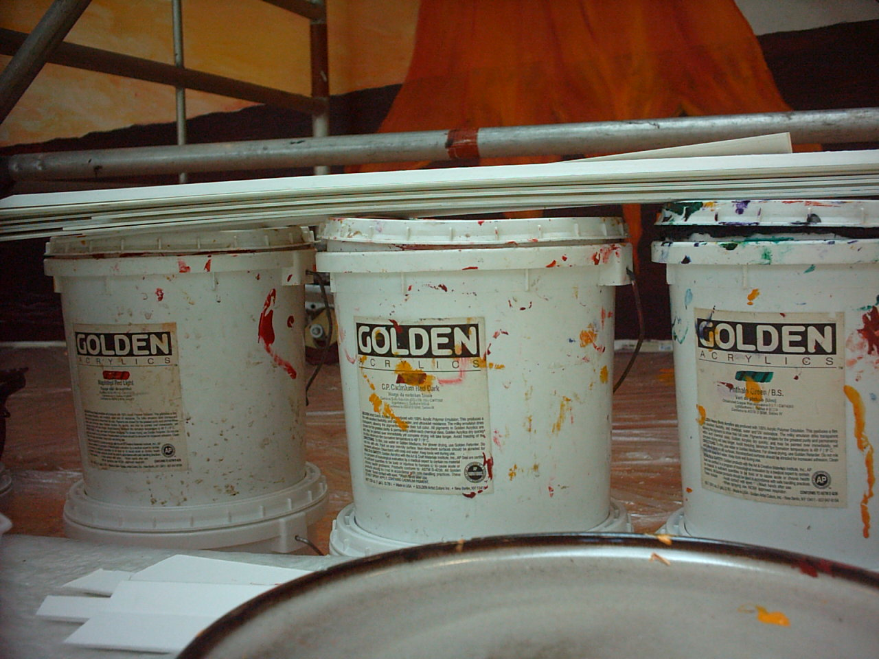 Golden acrylic paint