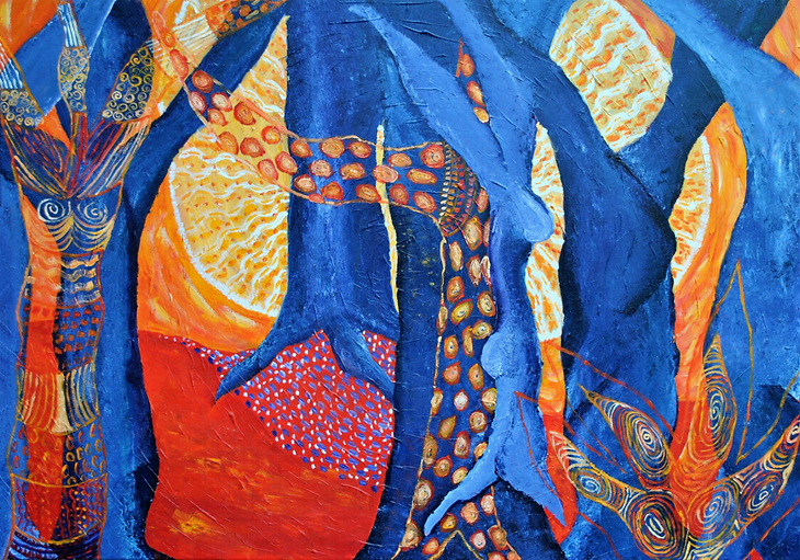 'The magic of life' (2018) acrylverf op