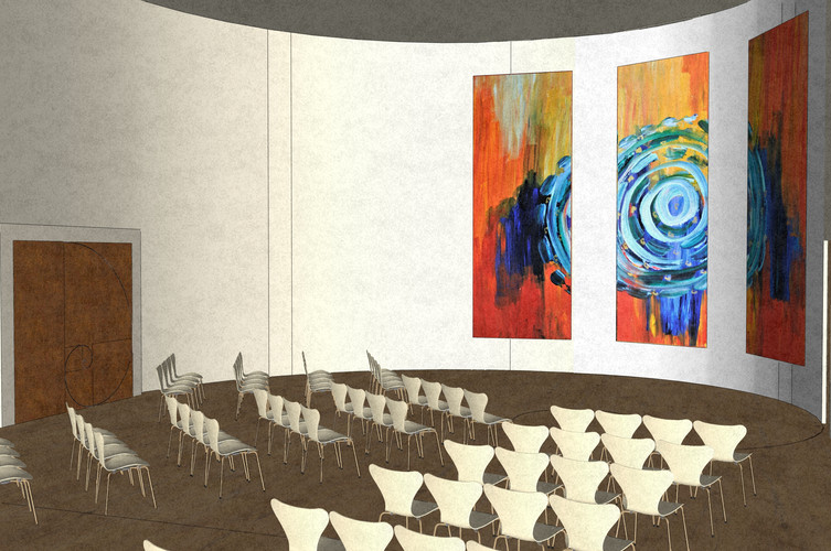 Conference meditation interior, hall