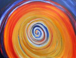 'Poort van licht' (2017), acrylverf op l