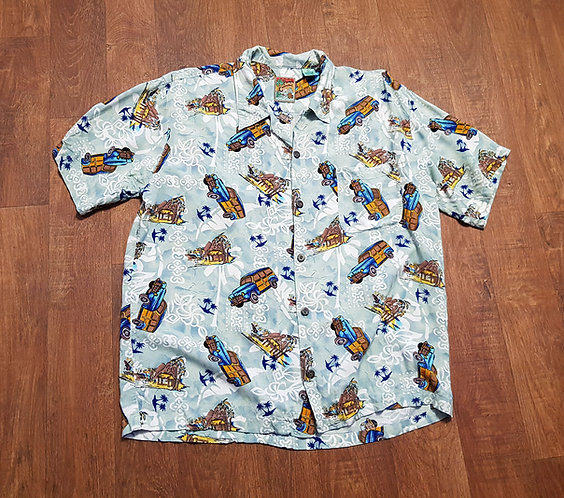 Mens Shirt   Vintage Hawaiian Shirt   Vintage Clothing   Second Hand