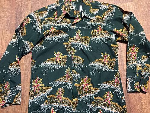 Mens Vintage 1970s Floral/Bold Print Shirt UK Size Large