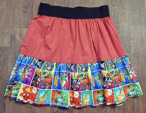 Vintage Style Skirt | Retro Skirts | DC Superhero Skirt | Kitsch Skirts