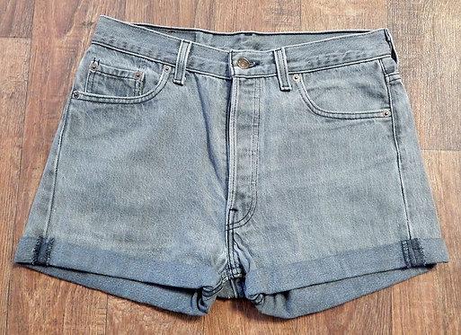 Vintage Shorts   Grey Denim Shorts   Retro Levi 501s   80s Style