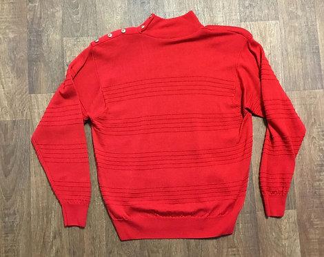 Vintage 1980s Deep Red Jumper UK Size 14/16