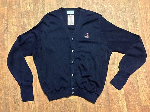 Mens 1970s Vintage Navy Izod Cardigan UK Size Large