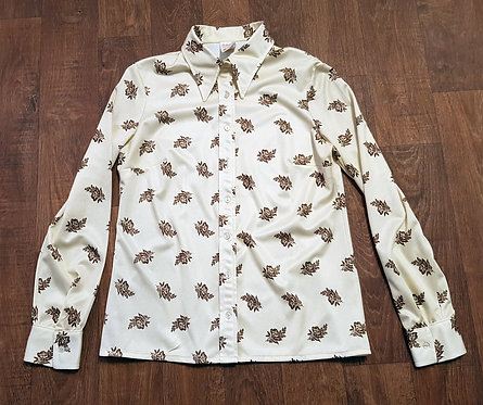 Vintage Shirt | Retro Shirts | 1970s Floral Shirt | Vintage Clothing