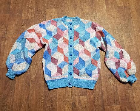 Vintage Cardigan | 1980s Knitwear | Vintage Clothing | 80s Fashion