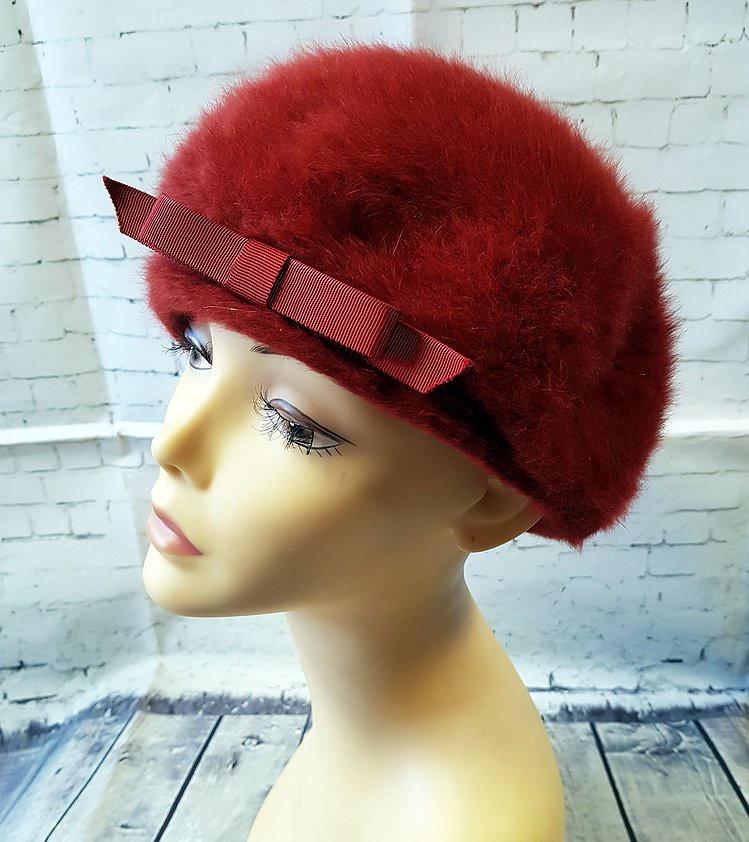 1960s Vintage Kangol Fluffy Rust Hat/Beret