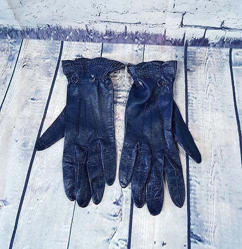 Vintage Gloves | Navy Leather Gloves | Vintage Shop | Eco Friendly