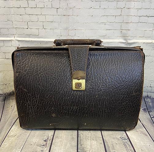 Vintage Doctors Bag | 1950s Gladstone Bag | Vintage Style | Eco Friendly