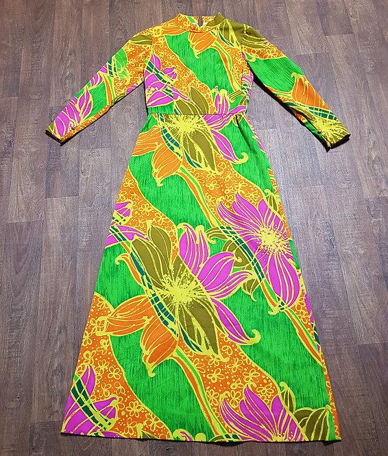 Vintage Dress | Psychedelic Dress | Vintage Clothing | 1970s Fashion
