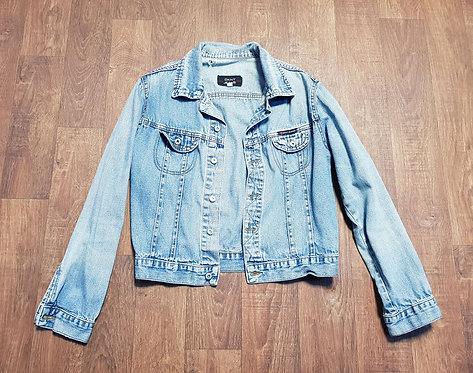 Vintage Denim Jacket | 1990s Fashion | Retro DKNY Jacket | Unique Vintage