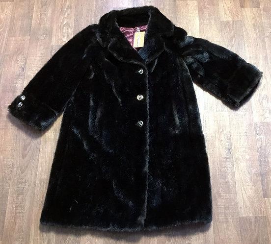 Vintage Coat | 1950s Faux Fur Coat | Vintage Clothing | 50s Style