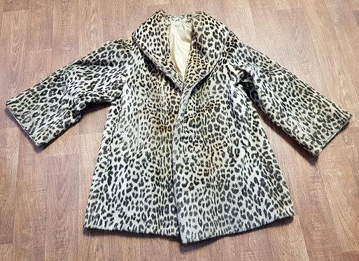 Vintage Coat | Faux Fur Coat | Vintage Clothing | Animal Print