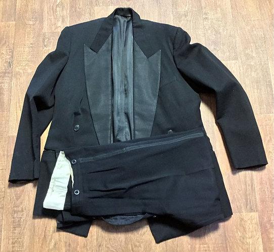 "Mens 1960s Vintage Burtons Black Dinner Suit 42R 34"" Waist"