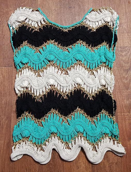 Vintage Crochet Top | Boho Style | 70s Fashion | Vintage Stripe Top
