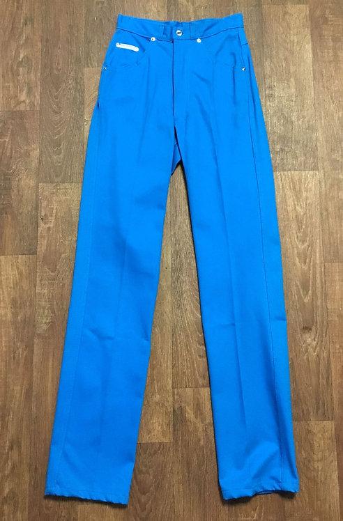 Vintage 1970s Bright Blue Jeans (original tag) UK Size 8