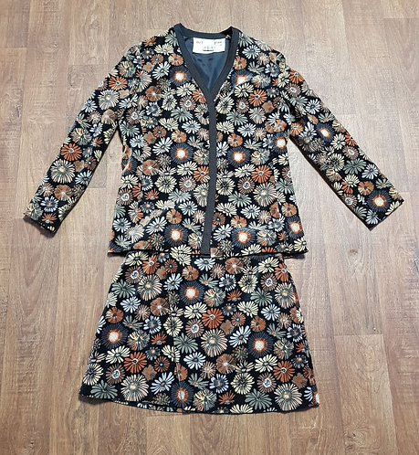 Vintage Mini Skirt Suit | Liberty London | Vintage Clothing | Retro Skirt Suit