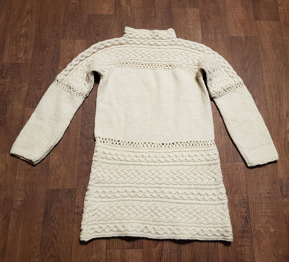 1970s Vintage Cream Chunky Knit Jumper Size 12