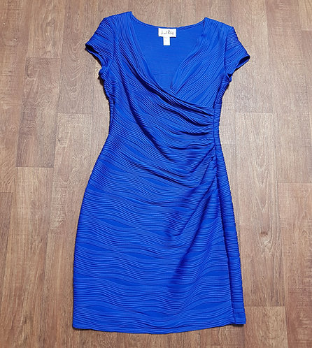 Vintage Dress | Vintage 90s Joseph Ribkoff Blue Cocktail Dress UK Size 12