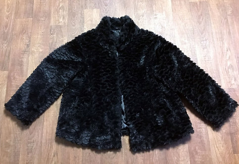 Vintage Coat | 1980s Faux Fur Coat | Vintage Clothing | 80s Style