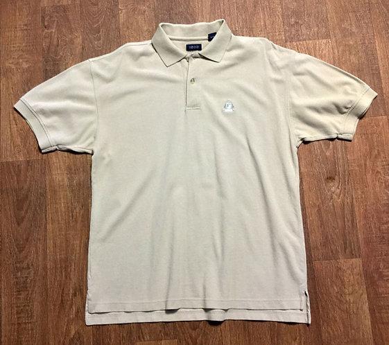 Mens 1970s Vintage Beige Izod Polo Shirt UK Size Large
