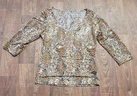 Vintage Top | Animal Print Sequin Top | Vintage Clothing | 80s Style