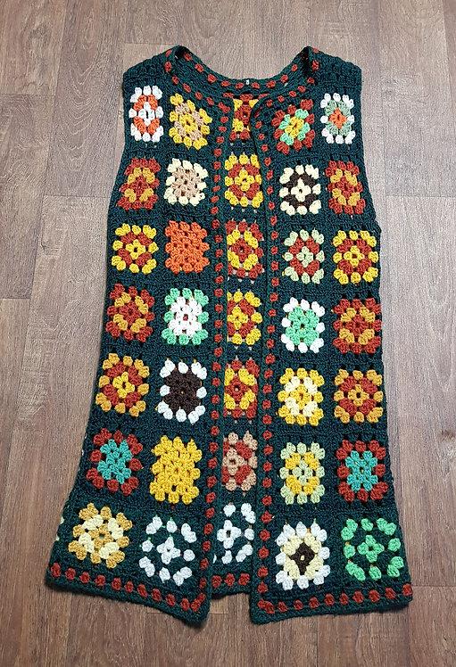 Vintage Crochet Waistcoat | Boho Clothing | Vintage Clothing | Eco Friendly
