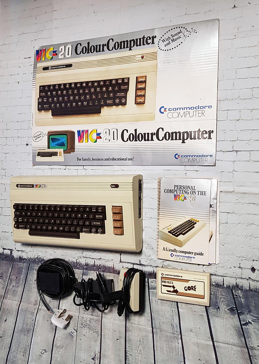 1980s Vintage Commodore VIC-20 Colour Computer Retro Gaming