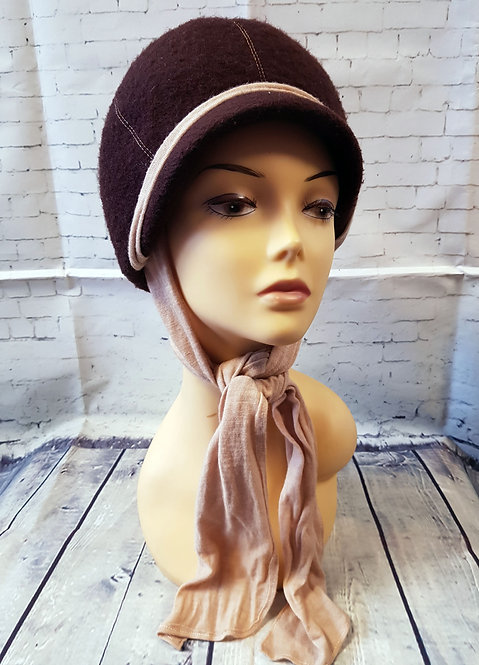 1960s Vintage Brown Mod Scooter Hat